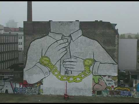 Berlin protest mural by Blu