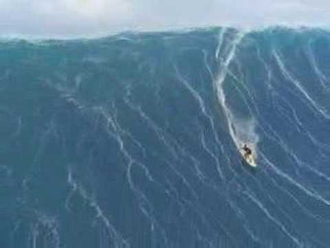 Surfer struck in tsunami
